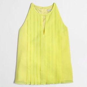 ✨J Crew✨ Yellow Pleated Halter Top